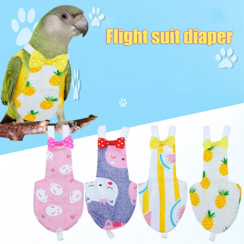 Pañal de pájaro loro, traje de vuelo, pañales, palomas cacatúa, mascota mediana grande, ropa de pájaros C42