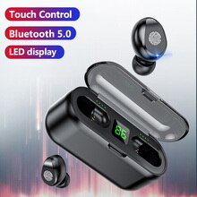 TWS F9 Wireless Headphones Stereo Sport Headsets Bluetooth Earphones Touch Mini Earbuds with 2000mAh