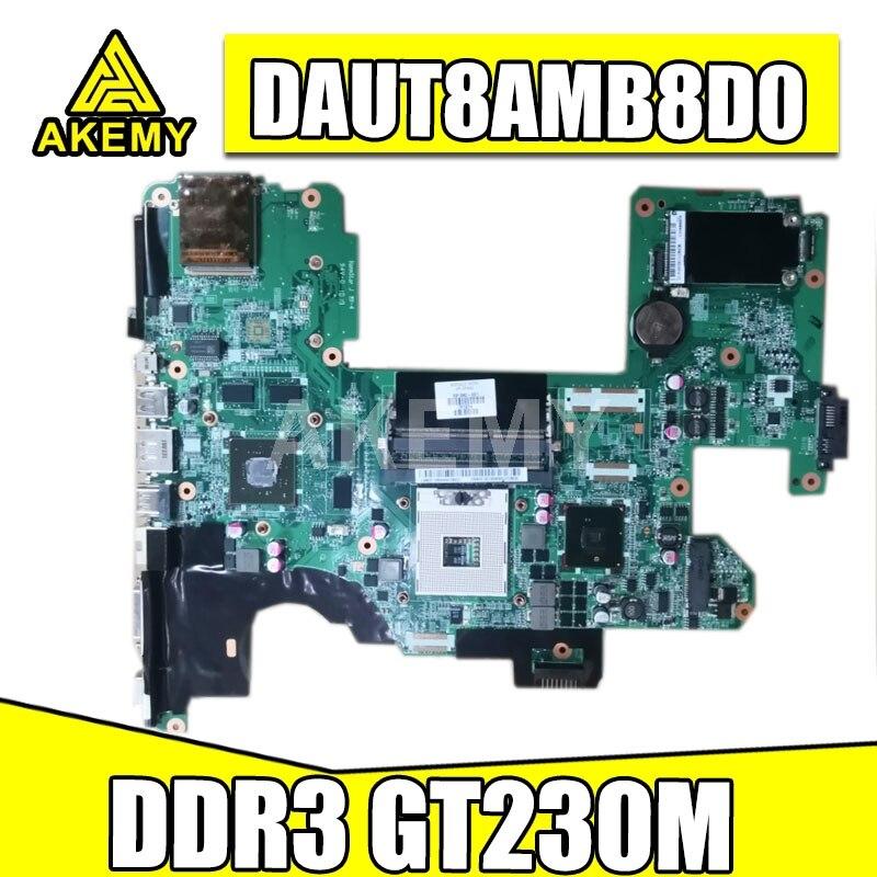 AKemy 573758-001 591382-001 لوحة الأم للكمبيوتر المحمول HP بافيليون DV8 اللوحة الرئيسية DAUT8AMB8D0 PM55 DDR3 GT230M الرسومات