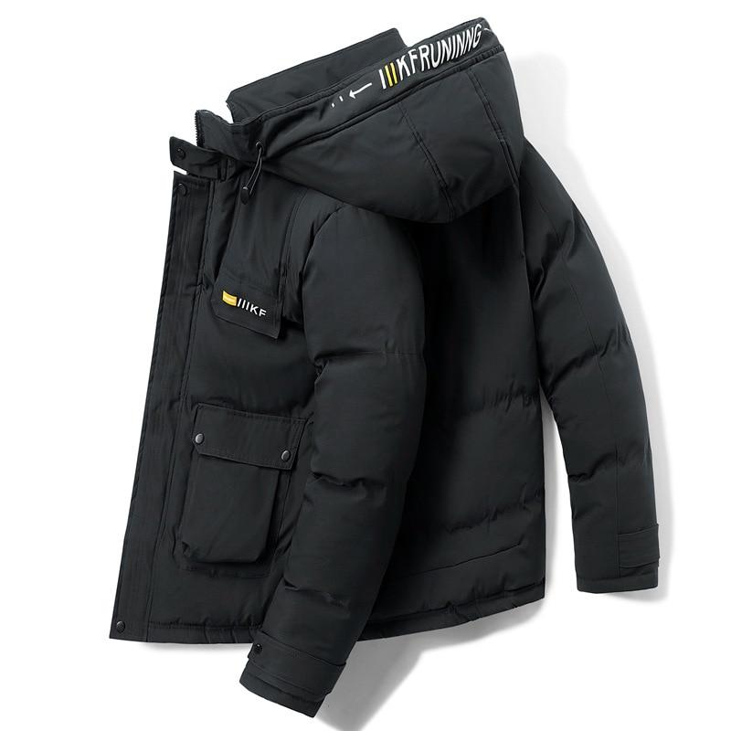Men 2021 Winter Casual Warm Thicken Windproof Jacket Parkas Coat Men Brand New Autumn Outwear Hoodie