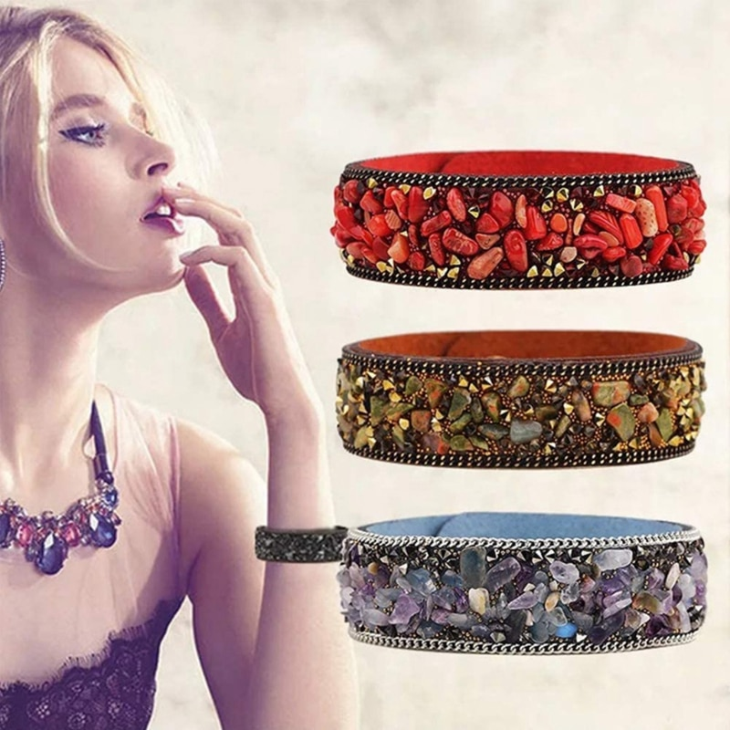 Irregular Crushed Stones Natural Assorted Stone Beads Bracelet Beaded Material 87HC