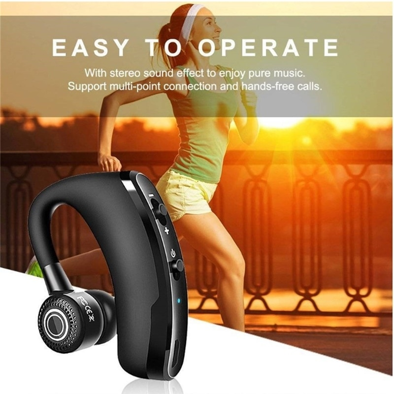 V9 Bluetooth Earphones Wireless Headphones Handsfree Driving Call Business Headset Sports Stereo Music Earbuds for iPhone Xiaomi enlarge