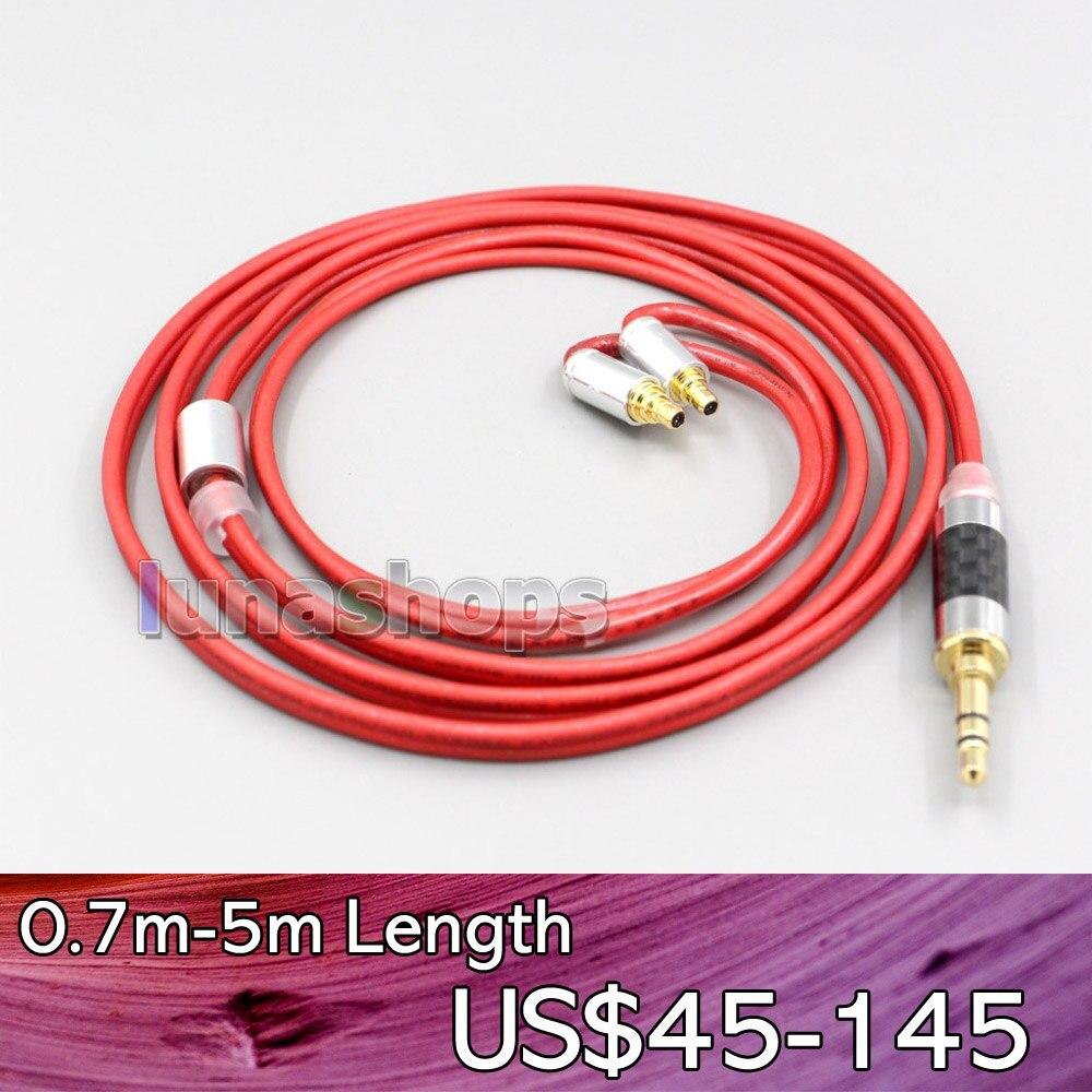 LN006657 2.5 مللي متر 4.4 مللي متر XLR 3.5 مللي متر 99% النقي PCOCC سماعة كابل ل سنهيسر IE400 IE500 برو
