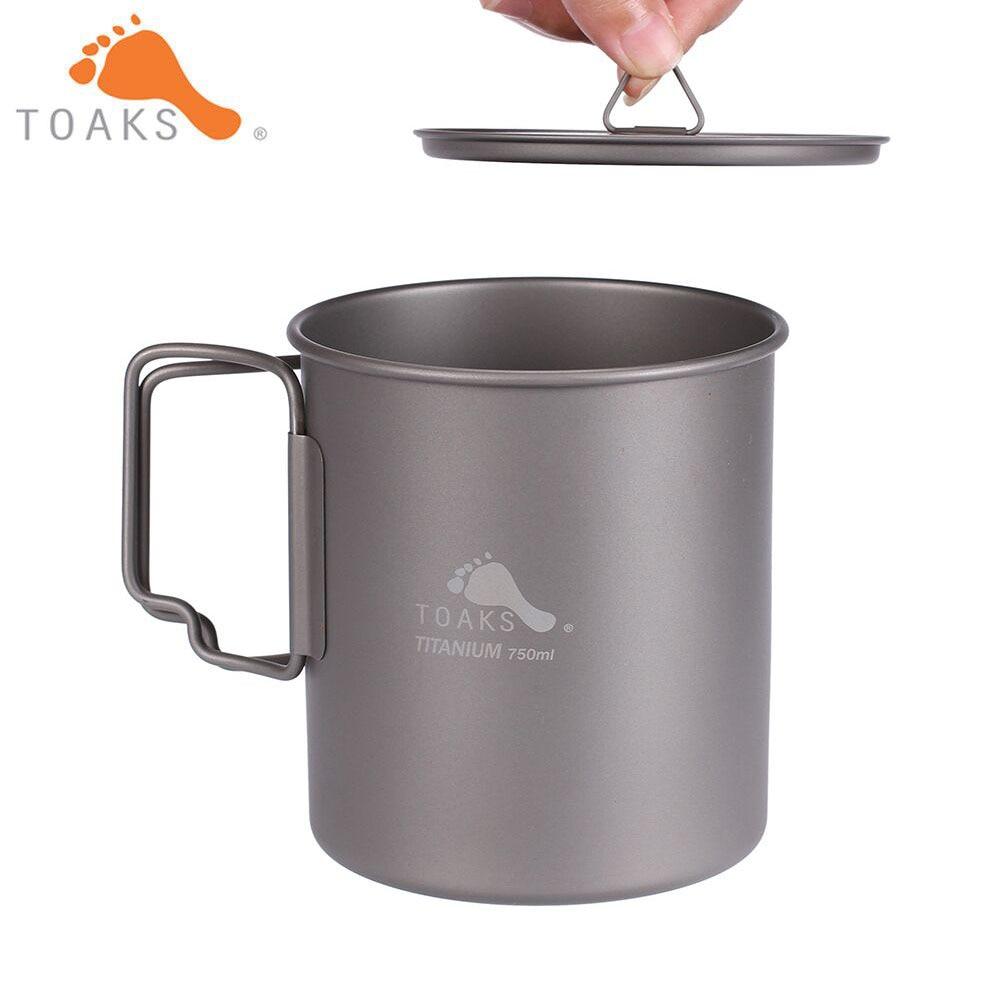 TOAKS Titanium Pot 750ml Ultralight Portable Titanium Bowl Camping Titanium Cup Mug