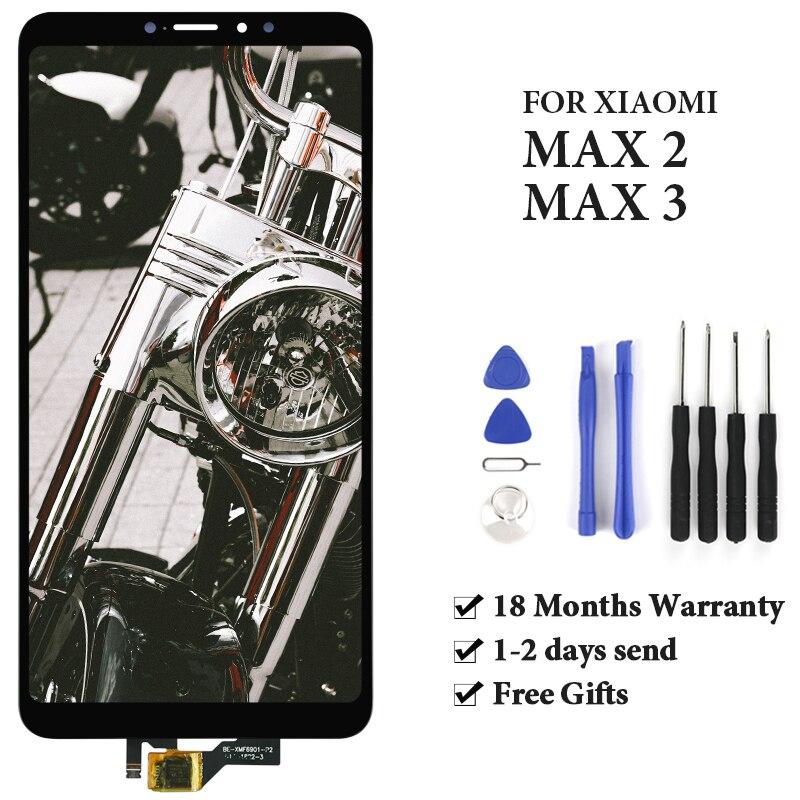 Para mi max 2 display lcd com quadro 6.44 black black preto branco oem tela de toque digitador assembléia substituição do telefone com ferramenta