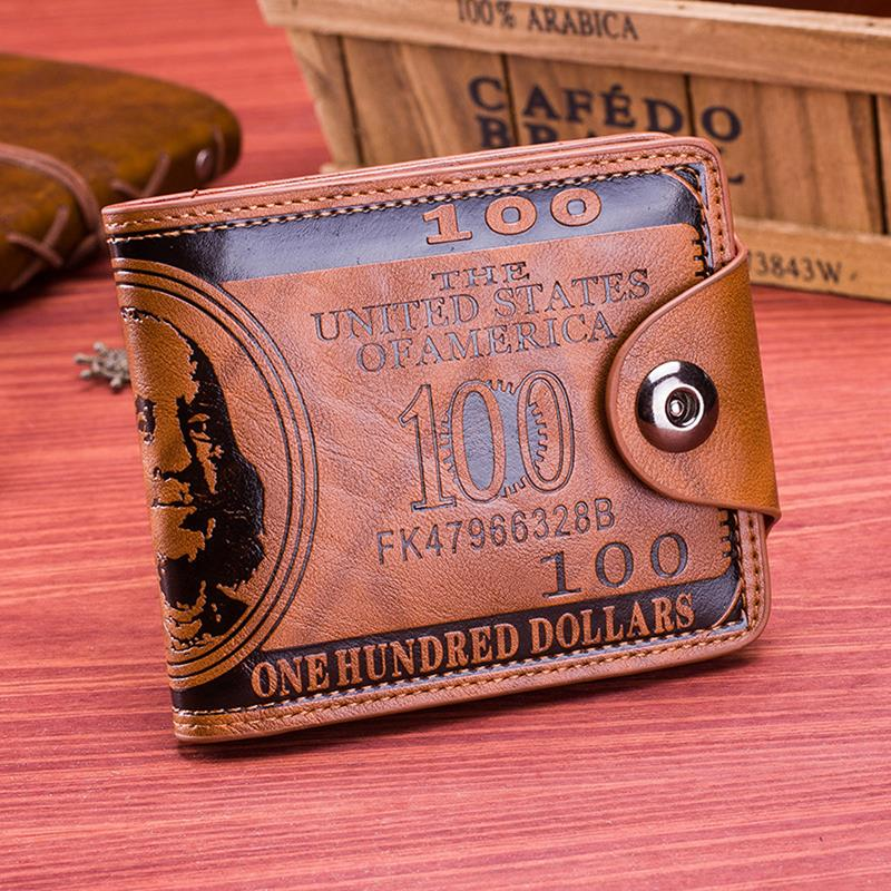 Brand Leather Men Wallet 2020 Dollar Price Wallet Casual Clutch Money Purse Bag Credit Card Holder F