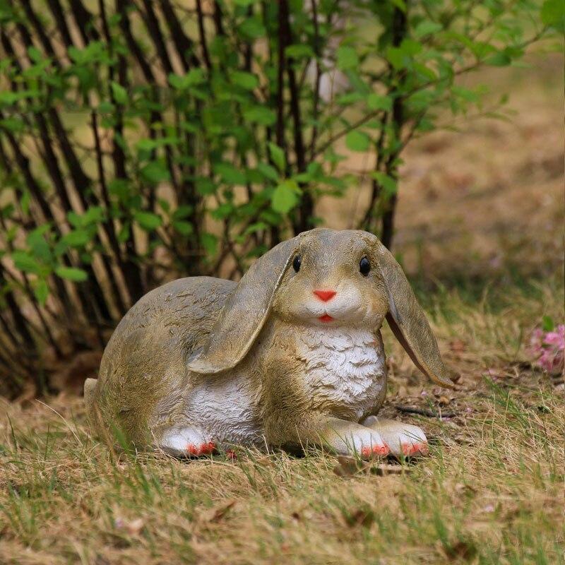 الإبداعية الراتنج جميل الأرنب حديقة الديكور الباحة في الهواء الطلق الحرفية النحت محاكاة الحيوان الحلي الزخرفية مصغرة