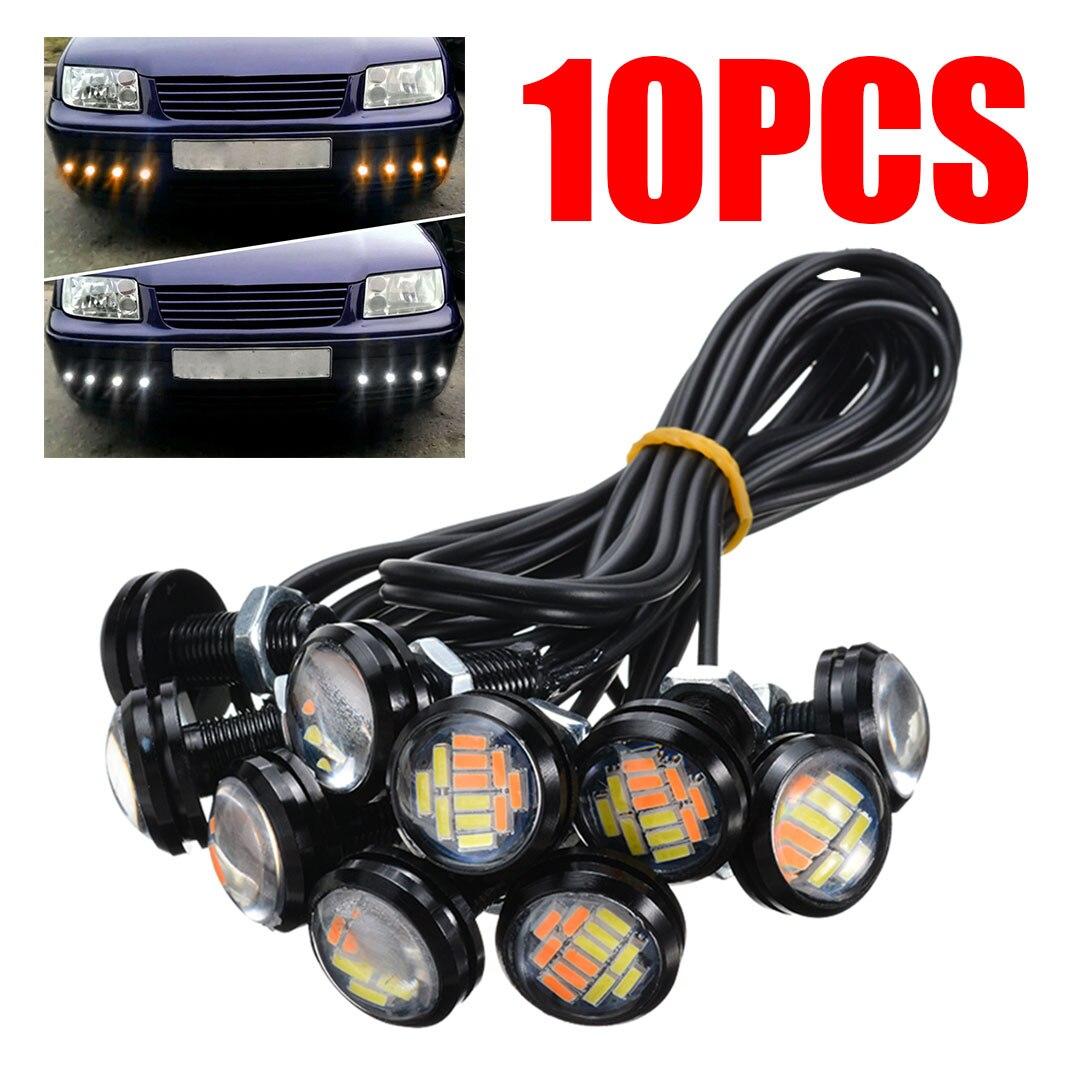 10 Uds 4014 multiusos ojo de águila blanco ámbar Switchback día-tiempo de funcionamiento 12LED ForTurn señal indicadora lámpara