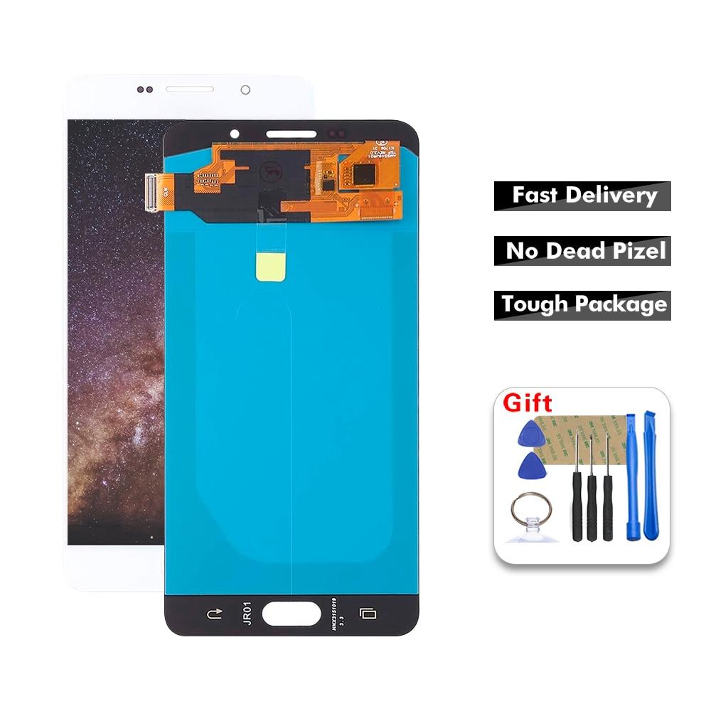 Para 5,5 Samsung-Galaxy A7 2016 A710 A7100 A710F A710F/DS LCD pantalla digitalizador Panel táctil Sensor de cristal montaje + herramientas