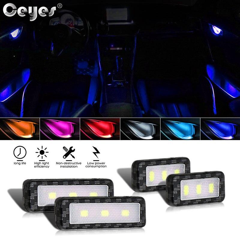 Ceyes, luces LED de 12V para el ambiente del coche, luces para el Interior de la puerta del Tazón y el mango, luz de reposabrazos para el Interior de la puerta, accesorios decorativos