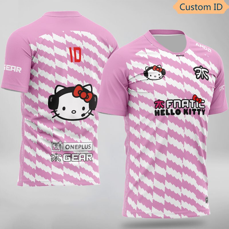 LOL DOTA2 CSGO Esports Fnatic Player Jersey Uniform Team Spiel T-shirt Männer Frauen Nach Name Kitty T Hemd