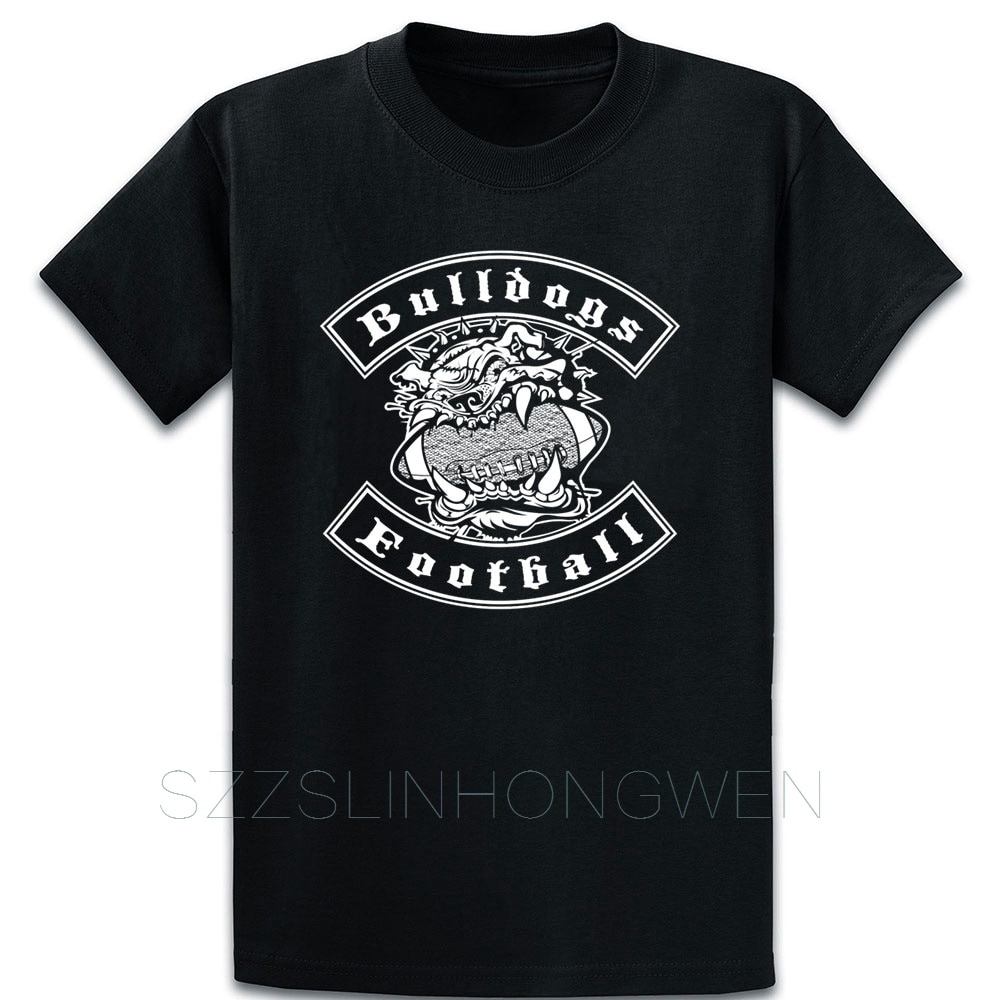 Bulldogs Football T Shirt Gift Spring Design Cotton Outfit O Neck Clothing Fashion Shirt