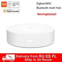 Le plus nouveau Xiaomi Mijia intelligent multi-mode passerelle 3 ZigBee WIFI Bluetooth maille Hub Smart Home Hub fonctionne avec Mi Home APP Apple Homekit