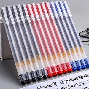 S608 Ins Neutral Gel Pens 0.5MM Black/Blue/Red Ink Bullet Gel Pens Test Pen 12pcs Set Pens For School Office Stationery Supplies