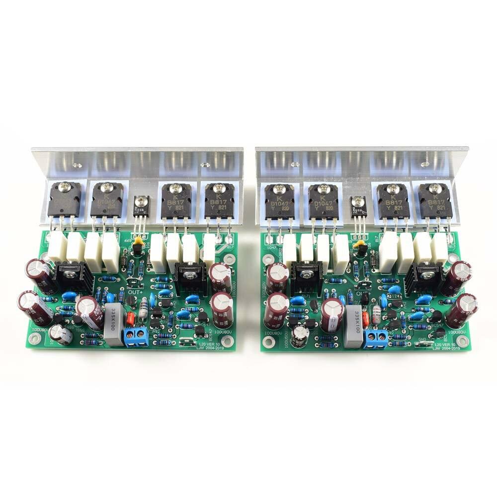 2 pçs hi-end l20 ver 10 stero amplificador de potência terminou placa 200 w 8r amplificador de alta fidelidade com dissipador de calor D2-011