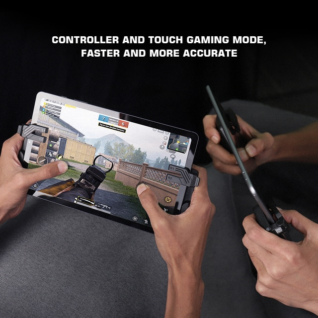 GameSir F7 Claw Tablet Game Controller, Plug and Play Gamepad for iPad / Android Tablets Zero Latency for PUBG Call of Duty 6