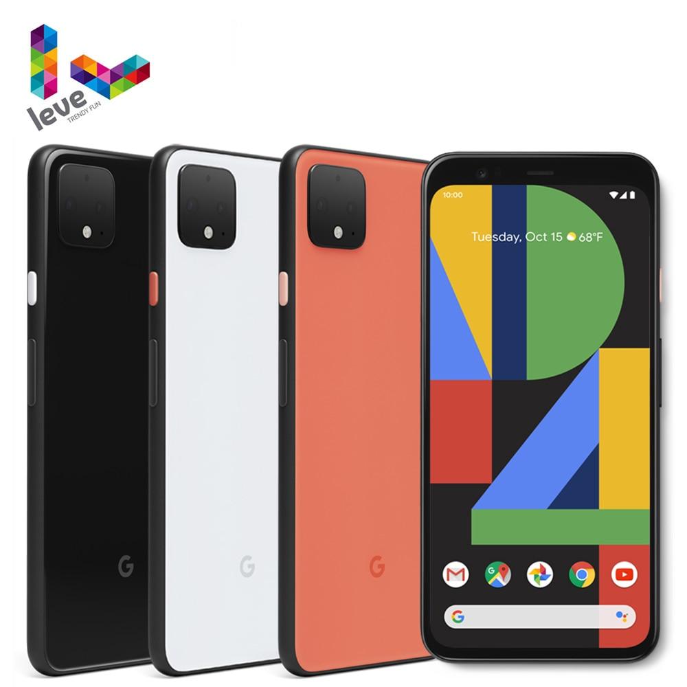 Разблокирована версия Google Pixel 4 4XL мобильный телефон 5,7 дюйм & 6,3дюйм  6 ГБ Оперативная память 64 ГБ и 128 ГБ Встроенная память 16MP Octa Core 4 аппарат не привязан...