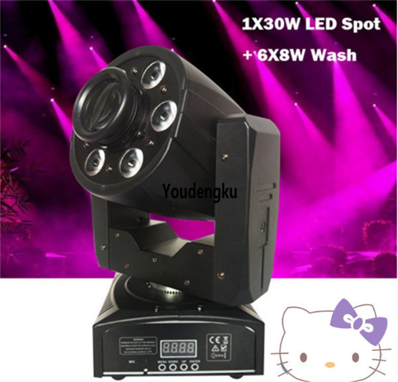 10 Uds Pro dj coloridos cambiados 30W minifoco de luz led cabeza móvil Punto de lavado movinghead led spot