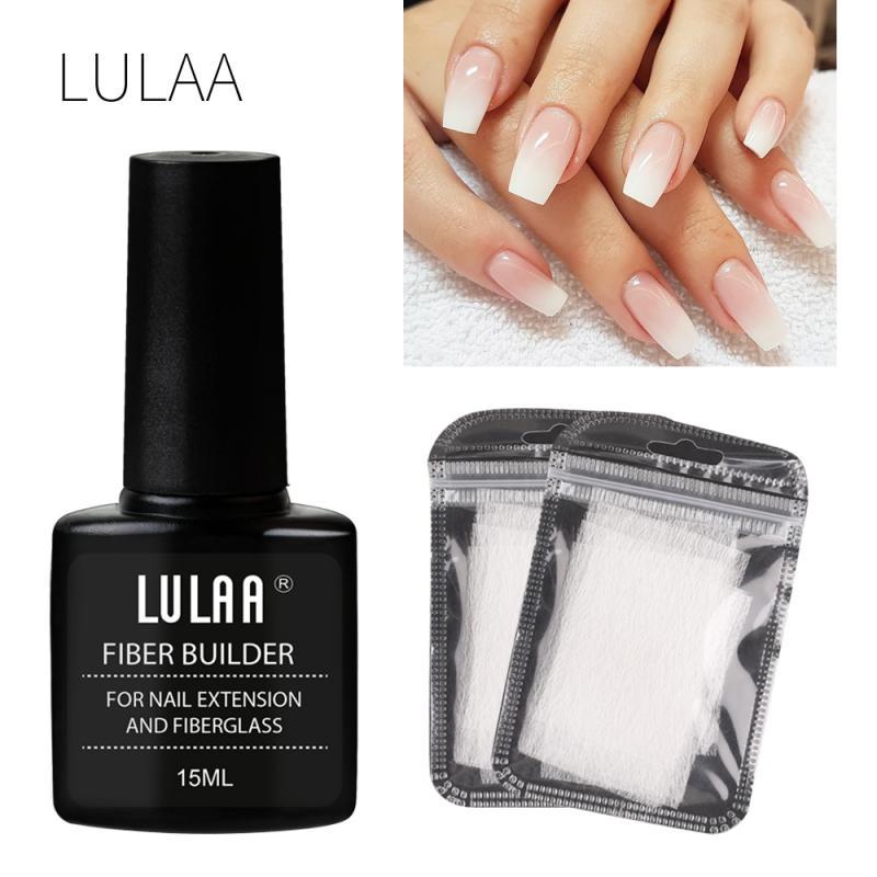 40/30/20/10pcs Nail Extension Fiberglass Clear UV Gel Fiber Silk Nails Wrap Stickers Fiber Builder Gel Nail Art Tools TSLM2