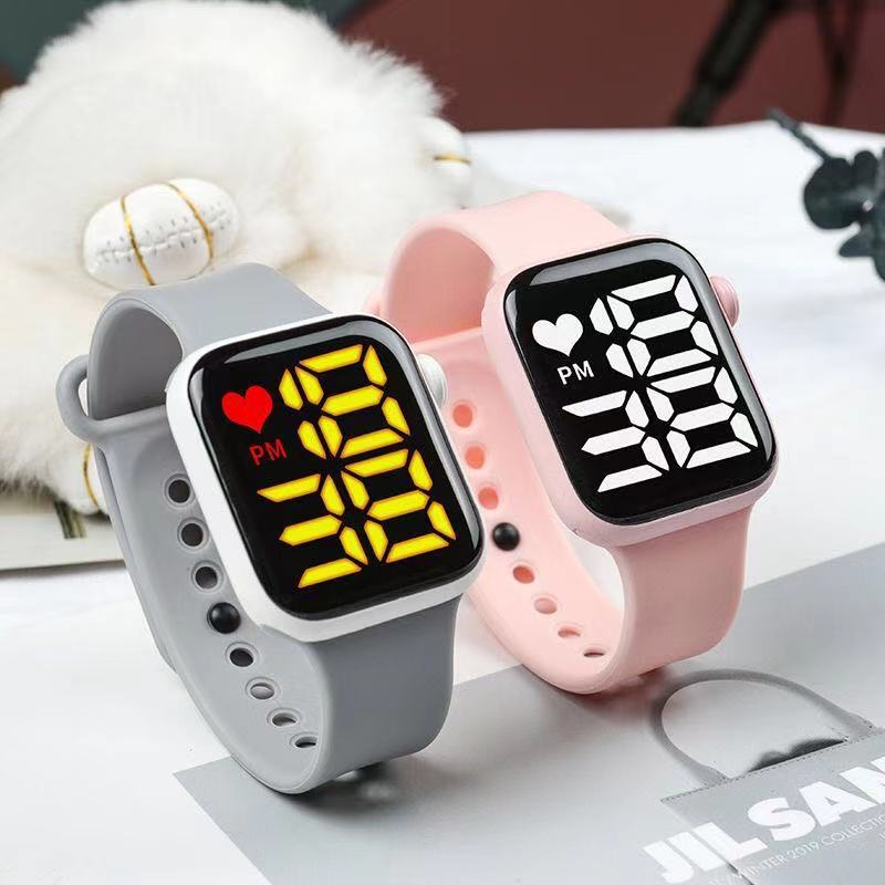 Женские наручные часы со светодиодным дисплеем, цифровые часы для женщин, спортивные водонепроницаемые электронные часы с мягким силиконо...