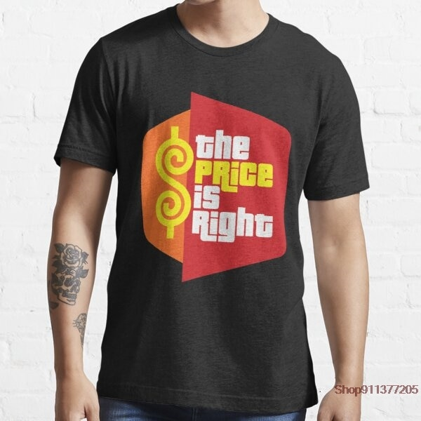 The Price is Right short sleeve 100% cotton men T shirt casual summer loost men tshirt cool o-neck t