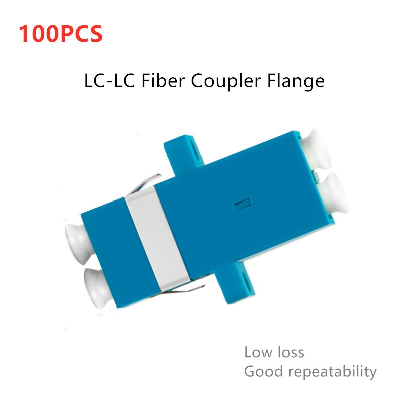 Low Loss LC-LC fiber optic adapter Duplex flange coupler LC to LC Connector Fiber Optic Flange Optical Attenuator lc apc optical attenuator lc lc singlemode female to male 5db ftth fiber optic attenuator