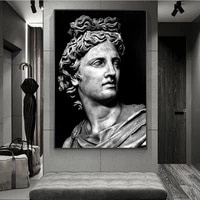 nordic black and white david head sculpture posters and prints wall art canvas paintings pictures living room home decoration