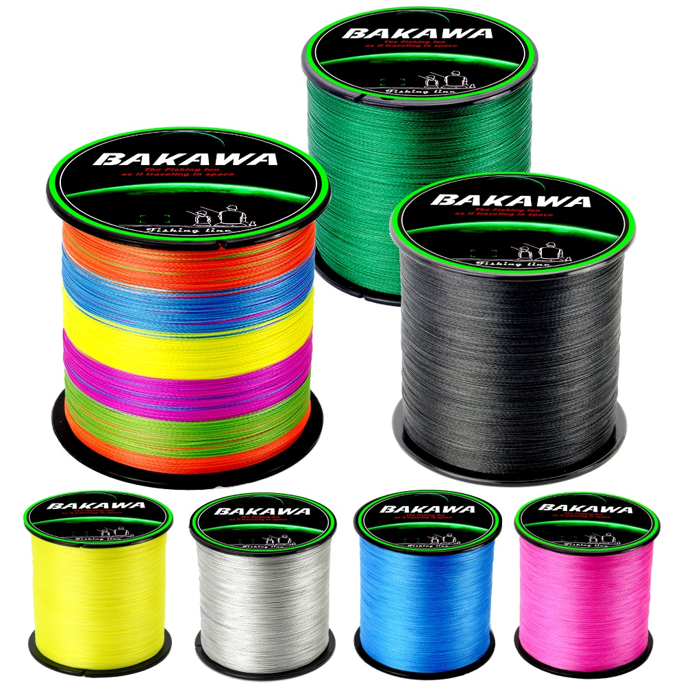 BAKAWA Braided Fishing line 4 Strands Carp Multifilament Wire Pesca Japanese 100% Pe Line Saltwater 300M 500M 1000M Accessories enlarge