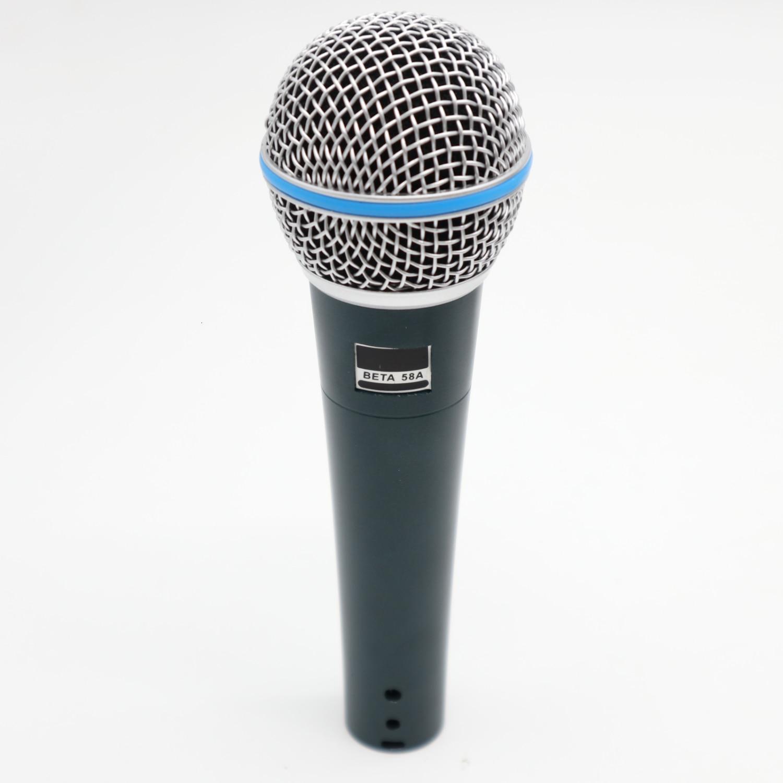 Interruptor de mano profesional BETA58A micrófono dinámico de voz micrófono para BETA 58A 58 estudio Singing Home Party KTV Speech Karaoke