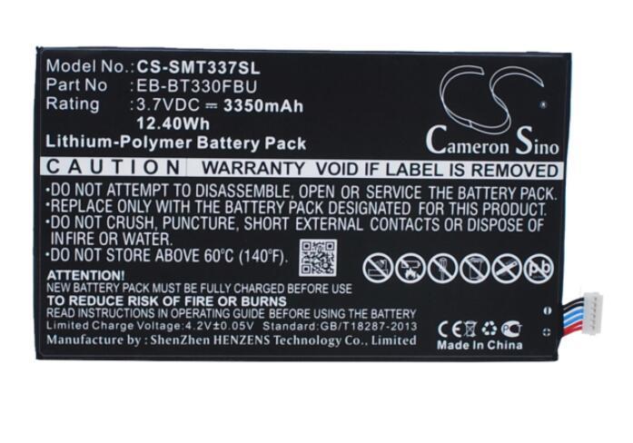 "Cameron sino 3350mah batería para SAMSUNG Galaxy Tab 4 8,0 Galaxy Tab4 8,0 ""SM-T330NU SM-T337A SM-T337T SM-T337V EB-BT330FBU"
