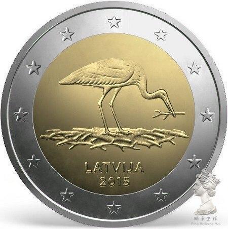 Letónia 2 euro 2015 unc 100% moeda original genuína real, moedas de coleção comemorativas