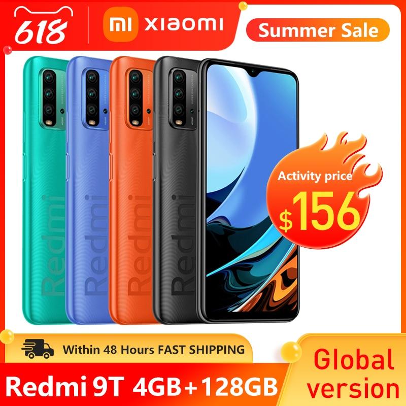 Глобальная версия Xiaomi Redmi-9T, 4 Гб оперативной памяти 128 ГБ ROM, смартфон с 6000 мАч батарея 48MP камера Snapdragon 662 6,53 дюймов мобильный телефон