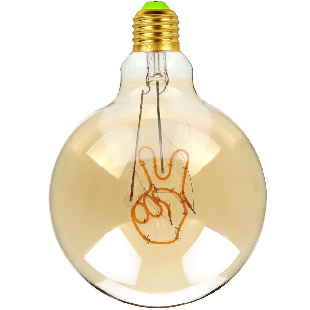 TIANFAN Led Bulb Vintage Light Bulb G125 Big Globe  Gesture Led 4W Non Dimmable Pendant Hanging Decorative Bulb 110V 220V