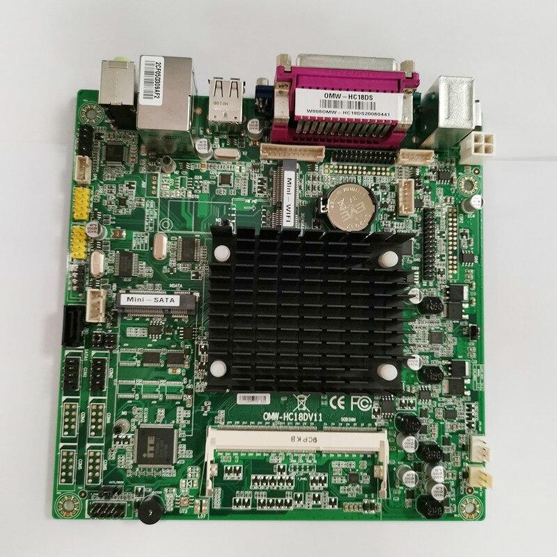 Placa base estándar ITX Celeron J800 procesador de doble núcleo 2,0 Ghz, placa base DC12V J1800 para Windows 7/8/10 y Linux, 170*170mm