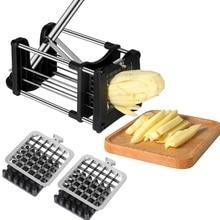 Lames dacier inoxydable frites faites maison pommes de terre Chips bande trancheuse Cutter Chopper Chips Machine faisant outil pomme de terre Cutter