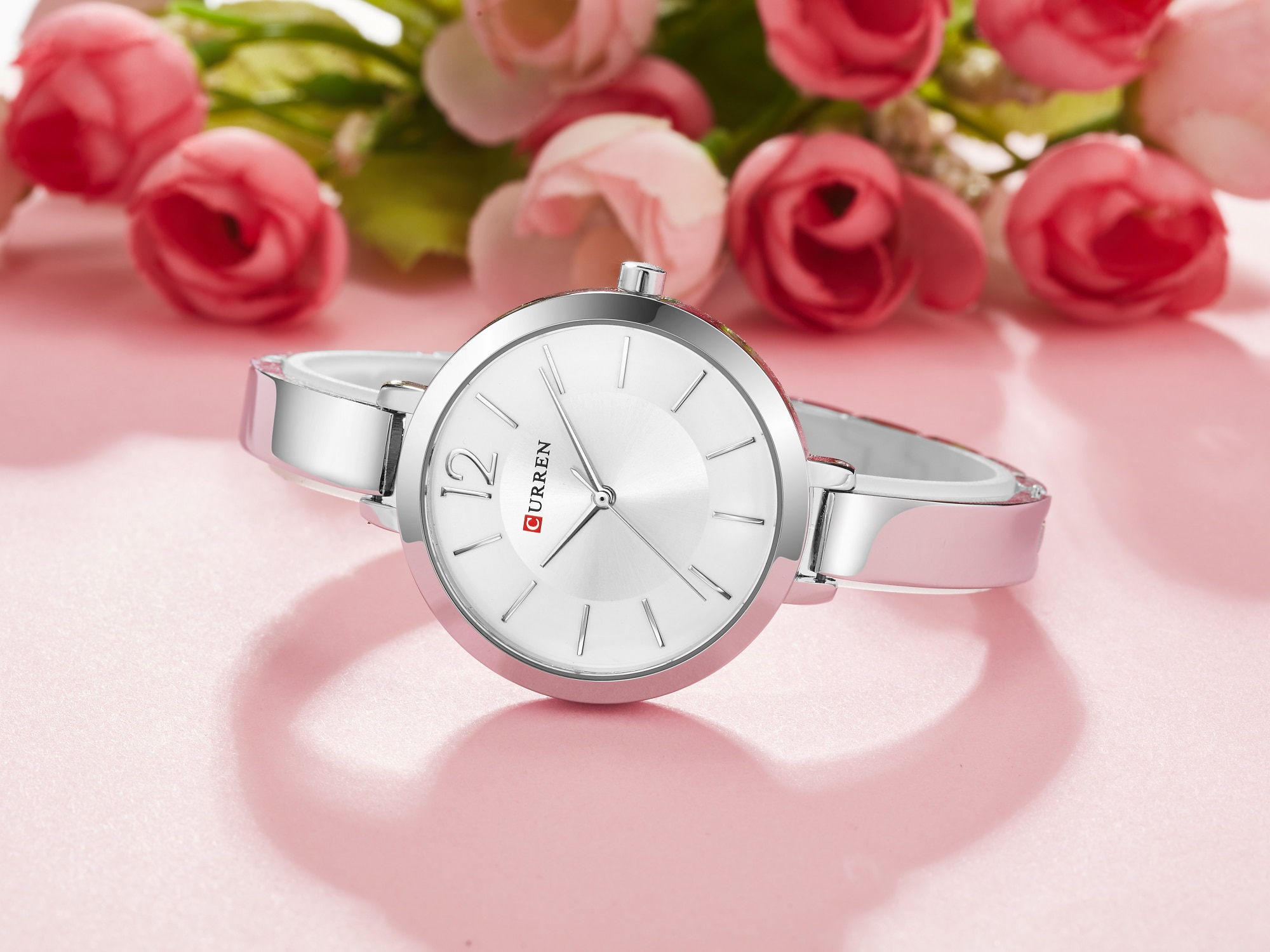 CURREN Top Brand Female Watch Ultra Thin Women Watches Gift Stainless Steel Waterproof Trendy Quartz Clock Relojes Para Mujer enlarge