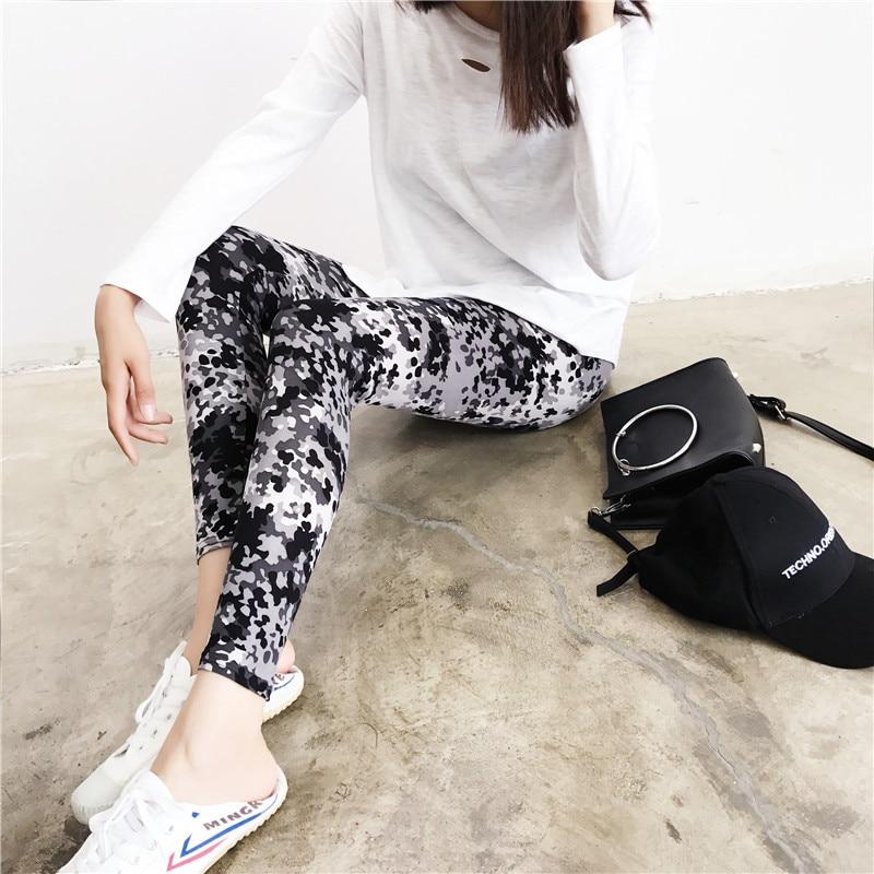 2019 New Leggings Women 3D Printed Camouflage Leggings Workout Leggins Slim Elastic Plus Size Pants Mujer Jeggings Legins O5A049