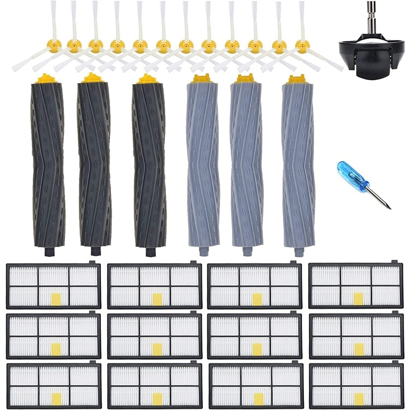 استبدال جزء ل اكسسوارات اي روبوت رومبا 805 860 890 870 871 880 890 960 980 981 985 عجلات Hepa تصفية مجموعة فرش