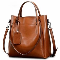2020 new womens bags leather shoulder messenger bags women handbags oil wax leather leather womens bags