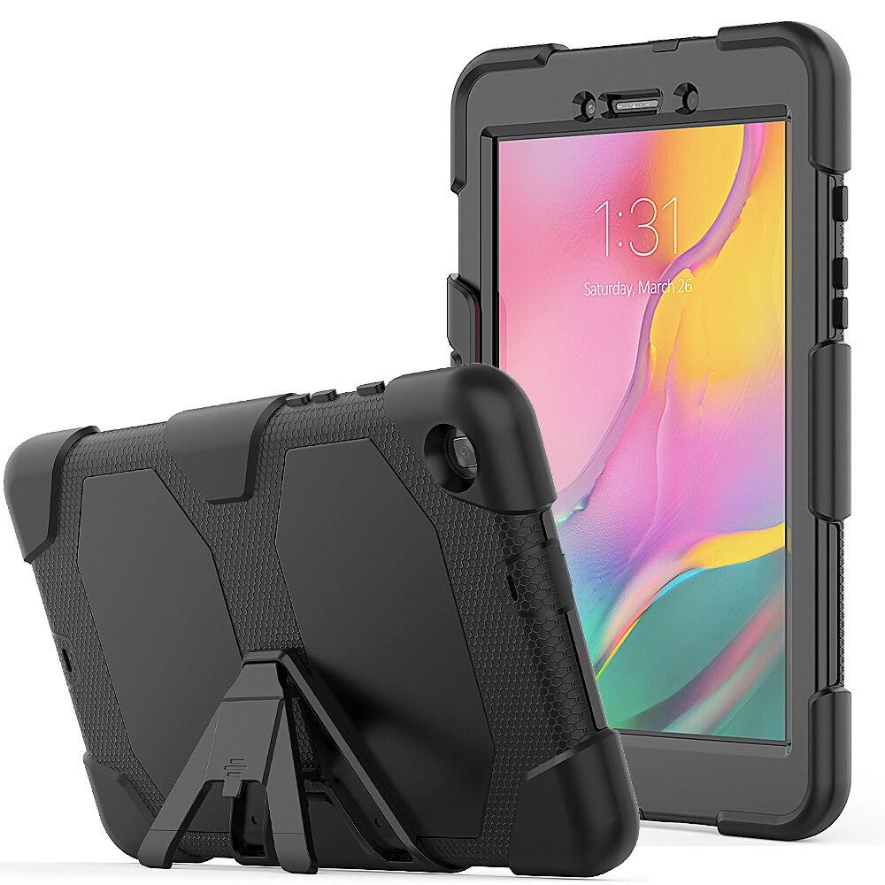 جراب درع متين لهاتف Samsung Galaxy Tab a 8.0 2019 T290 T295 Funda ، غطاء لوحي سيليكون قابل للإزالة ، مقاوم للصدمات ، غطاء كابا