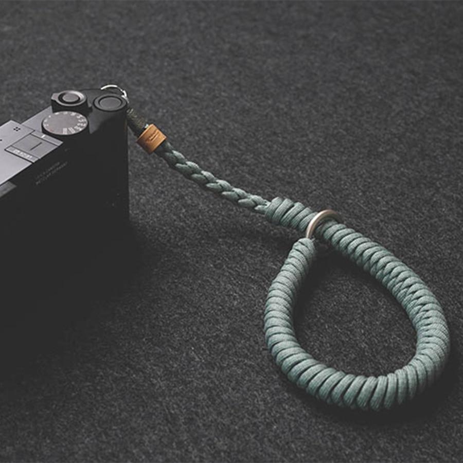 Hecho a mano tejido paraguas cuerda de la Cámara de la correa de muñeca pulsera para Fuji X-T30 X-T3 Sony A6400 A6500 A7III RX100 Leica Olympus