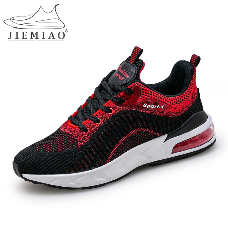 JIEMIAO Men Light Running Shoes High Quality Outdoor Sports Athletic Shoes for Men Sneakers Breathable Outdoor Sports Shoes Men