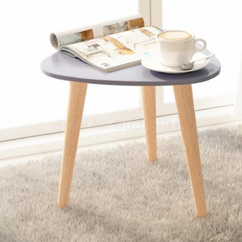 Mesa de té, Tatami Huxing pequeño Simple, esquina flotante de la ventana, pequeña mesa redonda, patas de madera sólida en Nórdico