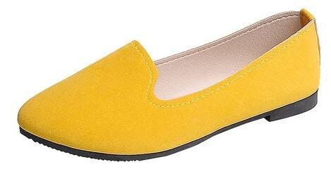 Zapatos planos YEELOCA 2020, lindos zapatos de Color caramelo, mocasines a001, cómodos zapatos de Ballet de punta redonda para mujer XS888