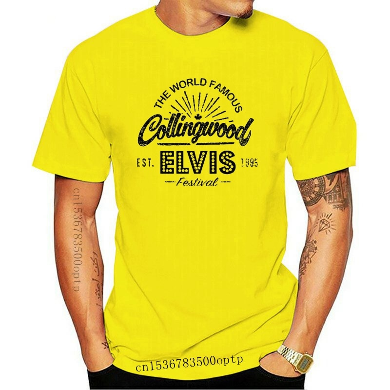 New 2021 2021 Men Collingwood Ontario T-Shirt Cottage Cabin Canada Vacation Camp Outdoorer Elvis Tee Shirt