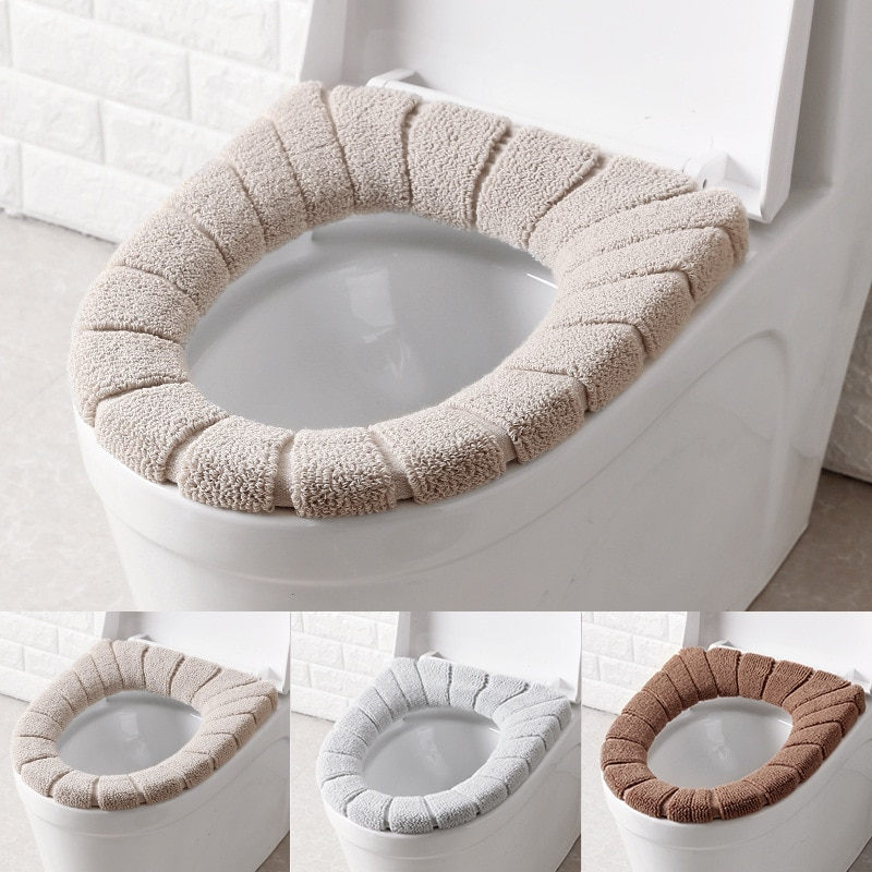 Tapa de asiento de inodoro, cubierta de lavabo de decoración, accesorios, tapa de agua suave para baño y baño, decoración de baño caliente 1/2 Uds