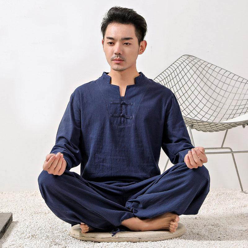 Мужская униформа Тай Чи, 4 цвета, из хлопка и льна, высококачественная одежда кунг фу для взрослых, боевые искусства, искусства|Наборы| | АлиЭкспресс