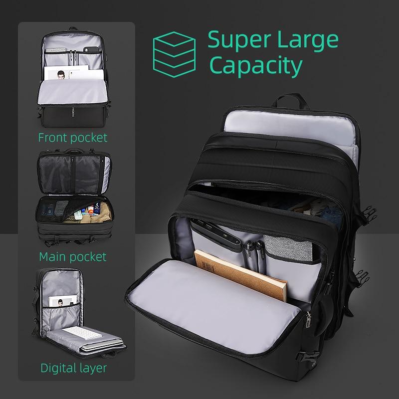 Beg galas lelaki muat beg 17 inci USB mengecas beg anti-pencurian - Beg galas - Foto 5
