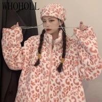 winter warm teddy faux fur lamb plush thick coat women fluffy fleece jacket korean harajuku girls student zip outwear streetwear