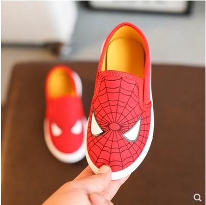Nuevos niños Superman Spiderman Batman zapatos niñas niños moda algodón acolchado zapatillas Navidad/Halloween zapatos tamaño 20-31